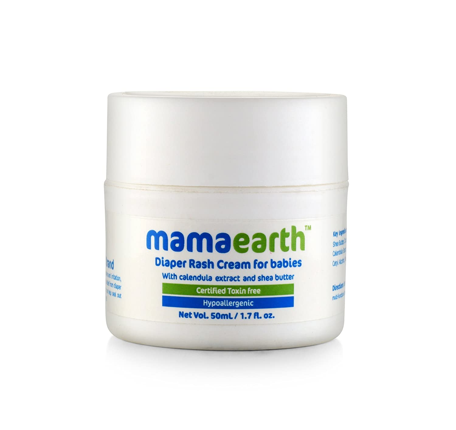 Mamaearth Baby Diaper Rash Cream with Zinc Oxide (Maximum Strength) for Babies, Made in The Himalayas- Hypoallergenic, Toxin-Free, All Natural with Organic Ingredients (50ml)