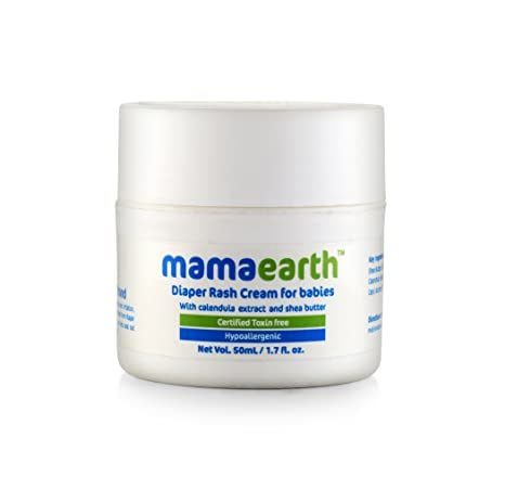 Mamaearth Natural Diaper Rash Cream for Babies 0-5 Years, 50ml