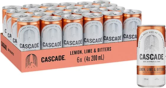Cascade Lemon Lime and Bitters Multipack Mini Cans 24 x 200mL