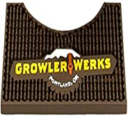 GrowlerWerks uKeg 128 Bar Mat, Brown, Small - GWA1027-128