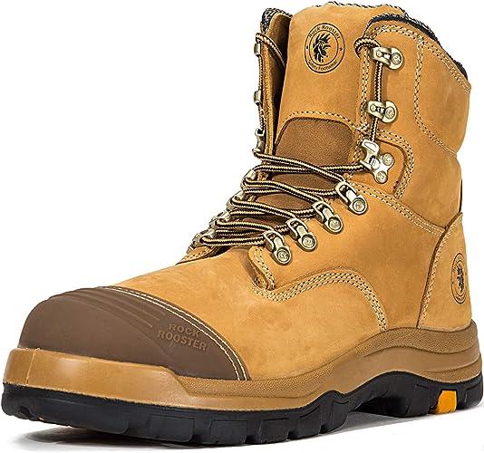 Men/'s Steel Toe Work Boots Oil Puncture resistant Waterproof Non-Slip Safe Shoes