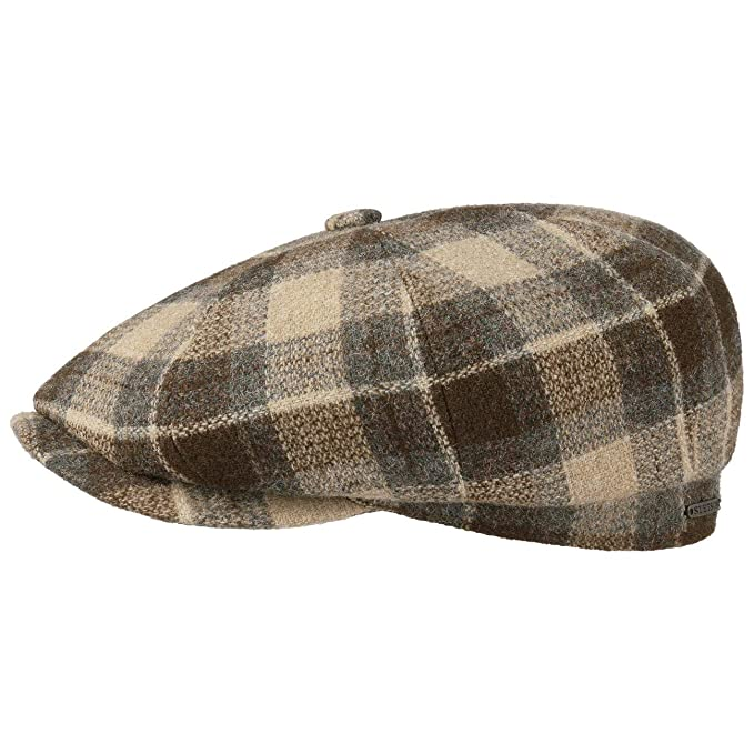 Stetson Gorra Hatteras Wool Mix Check Hombre - Made in The EU de ...
