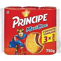 Príncipe Maxi Choc - Galletas Rellenas con Extra de Chocolate con Leche - 3 Paquetes de 250 g