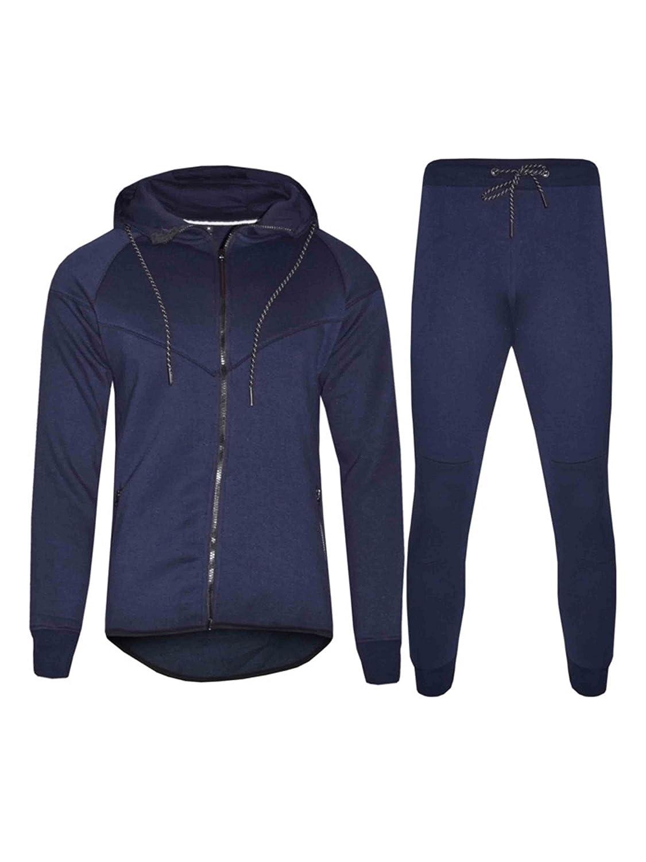 Pantaloni da Jogging con Cerniera e Cappuccio VANVENE Tuta Sportiva Sportiva da Uomo