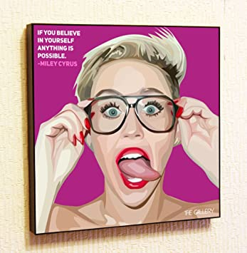 Amazoncom Miley Cyrus Singer Music Artist Actor Decor Motivational