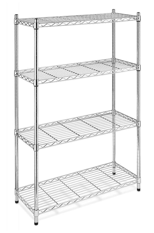Amazon.com: Black/Chrome Storage Rack 4-Tier Organizer Kitchen ...