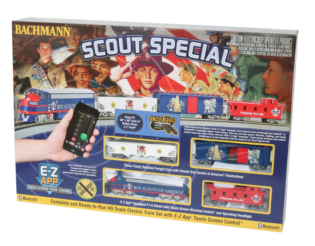 Bachmann Industries - SCOUT SPECIAL - BOY SCOUTS OF AMERICA E-Z App Smart Phone Controlled HO Scale Electric Train Set by Bachmann Trains (Image #1)