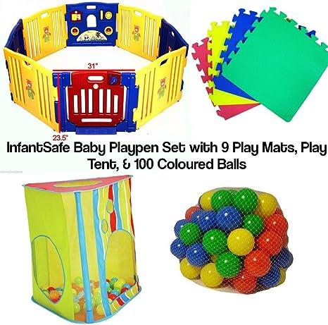 Juego de juguetes para bebé con tienda de campaña – 9 alfombrillas ...