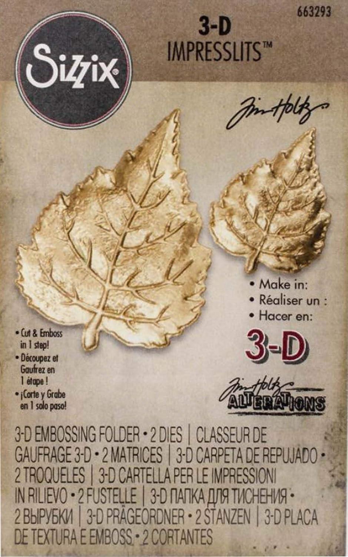 Tim Holtz 3-D Impresslits Embossing Folders 4 item bundle Laurel Medallion and Flourish Burst
