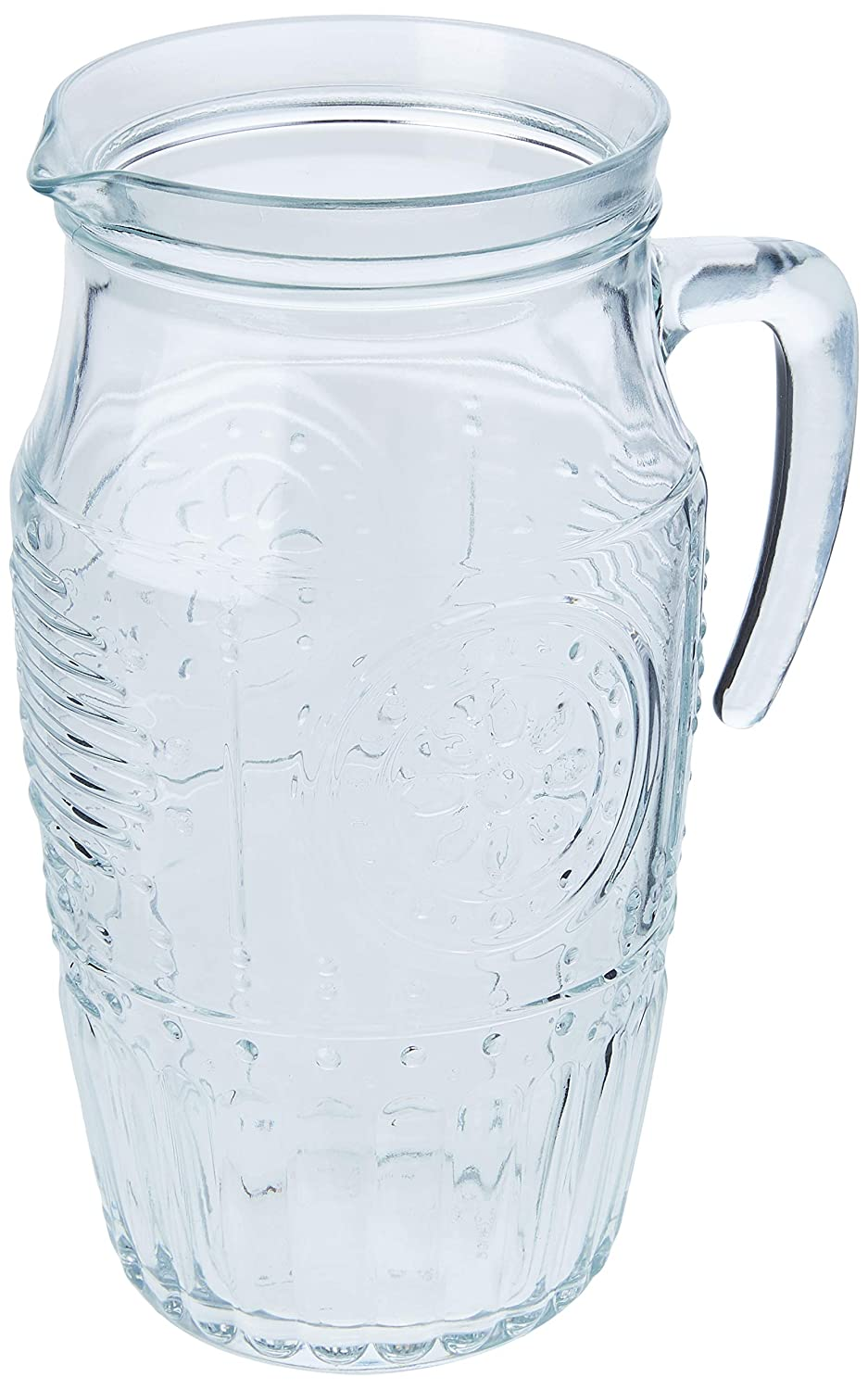 Bormioli Rocco Glass Water Pitcher with Ice Tube, 60.75 Oz Glass, Clear