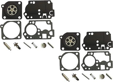 Kit de reparaci/ón y reconstrucci/ón de carburador sustituye a ZAMA RB-142 para POULAN//Weed Eater RS32 Recortadora ZAMA C1U-W32 C1U-W32A