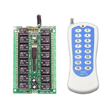 Lejin 16 kanal 12V Funkfernsteuerung Funkschalter mit Gehäuse mit ...