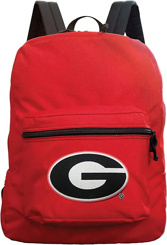 Amazon Com Denco Ncaa Georgia Bulldogs Made In The Usa Premium Backpack 16 Inches Red Sports Outdoors