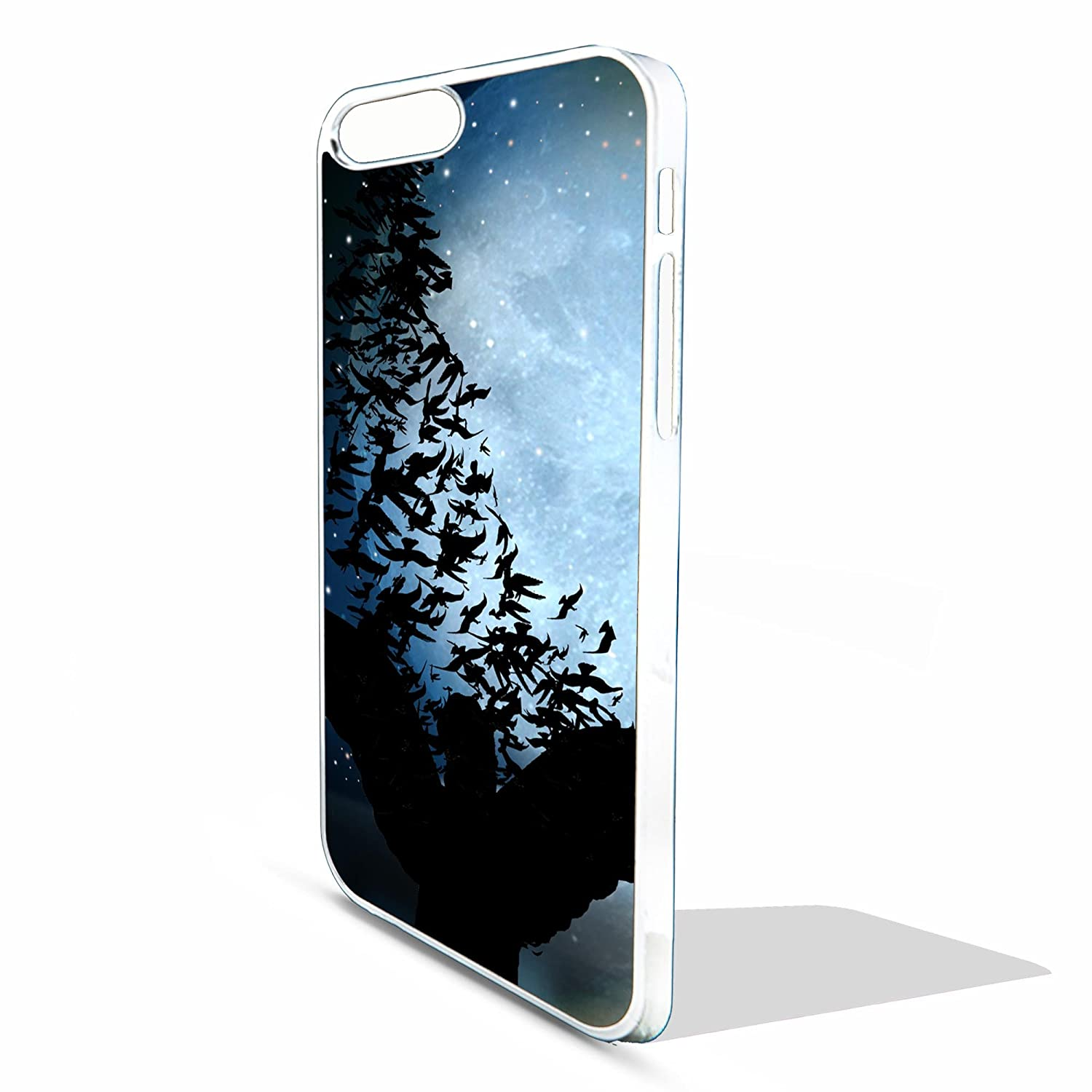 Coque de protection pour Apple Iphone 6 4,7 'Angel silhouette art religieux supernatural full moon Coque Blanc