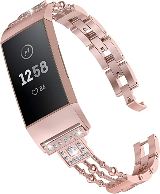 Bling Gem for Fitness Tracker Bracelet FITBIT Add On : Owl Silver Tone Band Accessory Charge HR Jewelry
