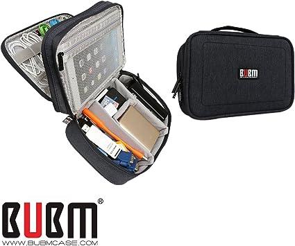 BUBM Accesorios de Viaje Accesorios para Organizador Paquete de Almacenamiento para Organizador Cargador para Teléfono de Banco de Energía Cable para Dispositivo USB Adaptador para Portátil Estuche para Transporte de Viaje: Amazon.es: