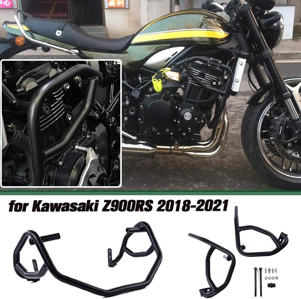 Lorababer Motorrad Schwarz Stahl Motorschutz Sturzbügel Schutzbügel Für Kawasaki Z900rs Z 900rs Z 900 Rs Cafa Zubehör 2018 2019 2020 2021 Schwarz Auto