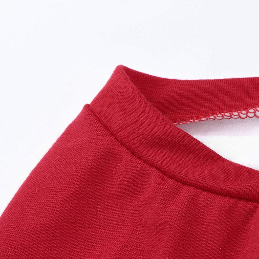 Kaicran Christmas Family Matching Pajamas Set Cartoon Letter Tops+Stripe Pants Sleepwear Casual Clothes