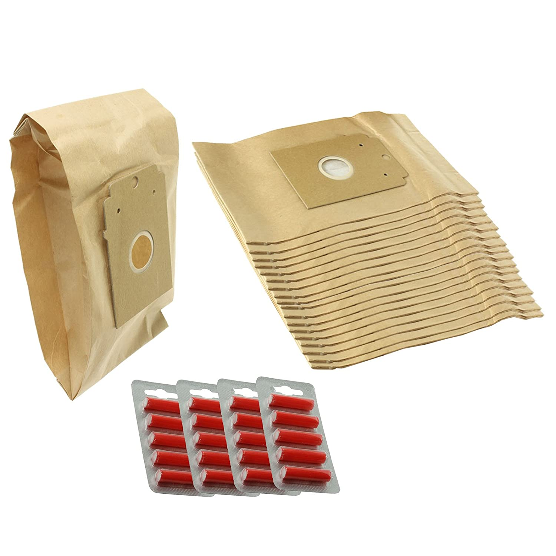 Spares2go tipo K sacchetti per aspirapolvere Bosch arriva Series (confezione da 20+ deodoranti)
