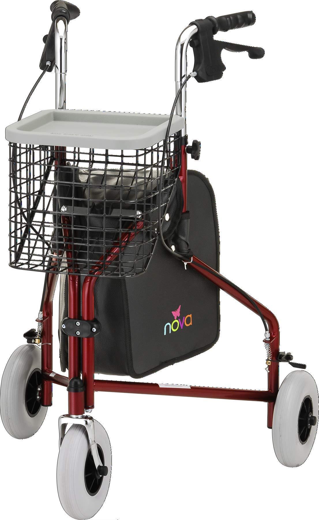 Amazon.com: NOVA Medical Products Traveler 3-Wheel Walker, Red: Health &  Personal Care