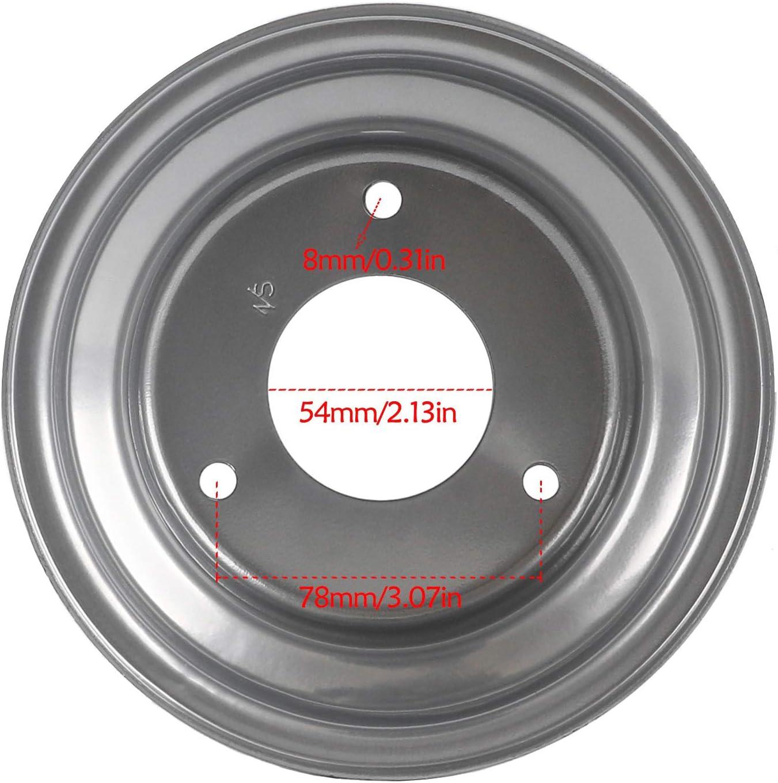 Silver Fuerduo 6 Wheel Rim 3 Holes Fits ATV Go Kart Mini Bike Lawn Tire 145//70-6