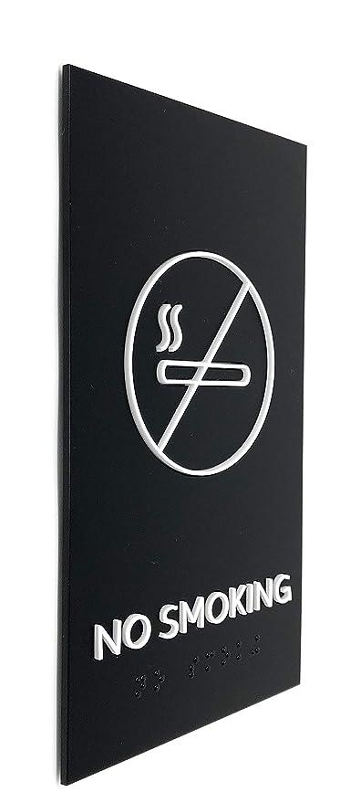 Amazon.com: Kubik Letras no fumar cartel de diseño moderno ...