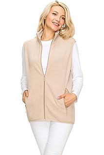 d8d9a7f1960a9 EttelLut Lightweight Polar Fleece Vest Jackets-Side Pockets Regular Plus  Size