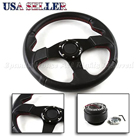 Amazoncom Acura RSX DC USA Mm Red Stitched Steering - Acura rsx steering wheel