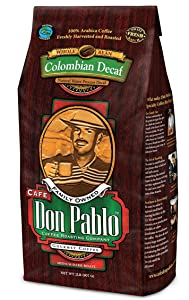 Cafe Don Pablo Colombian Gourmet Decaf Coffee