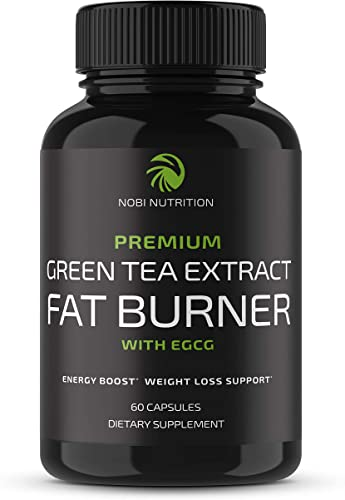 Nobi Nutrition Green Tea Fat Burner – Green Tea Extract Supplement with EGCG – Diet Pills, Appetite Suppressant, Metabolism Thermogenesis Booster – Healthy Weight Loss for Women Men