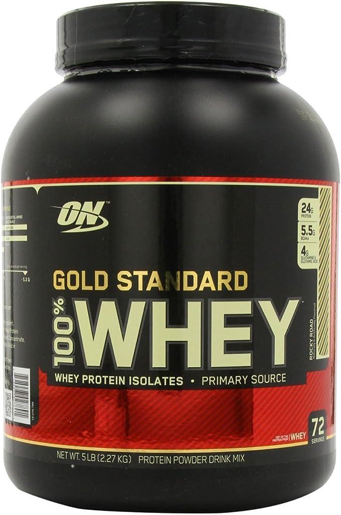 Optimum Nutrition Gold Standard Whey - Suero de leche (2,27 kg)