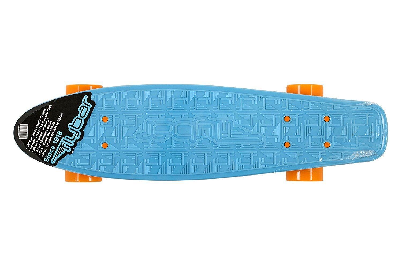 Flybar niños Mini Cruiser Skateboard completo plástico Junta, Infantil, Mini Cruiser, azul, Small/22-Inch