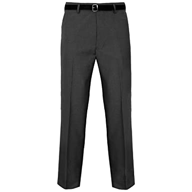 65138f0e1 Stylo Online® Mens Trousers Formal Casual Business Office Work Home Belted  Smart Dress Straight Leg