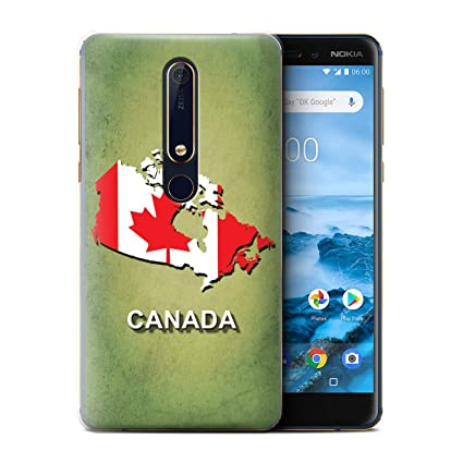 brand new 7ad45 28e27 Amazon.com: STUFF4 Phone Case/Cover for Nokia 6 2018 (6.1) / Canada ...