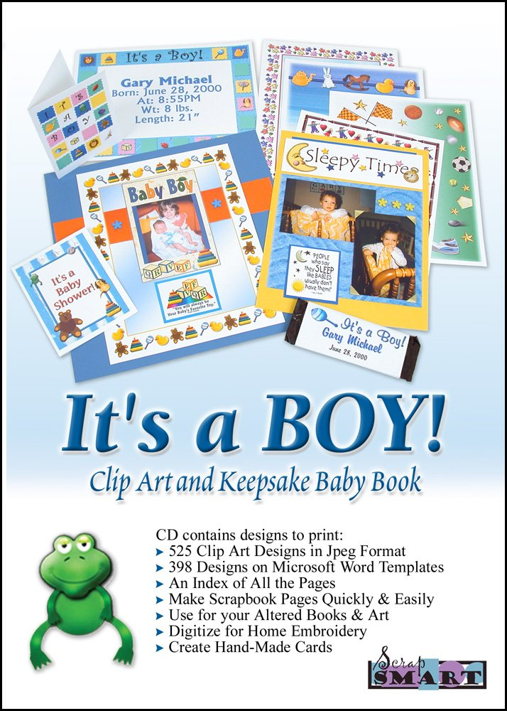 ScrapSMART - It's a Boy - Software Collection - Jpeg & Microsoft Word files for Mac [Download] by ScrapSMART
