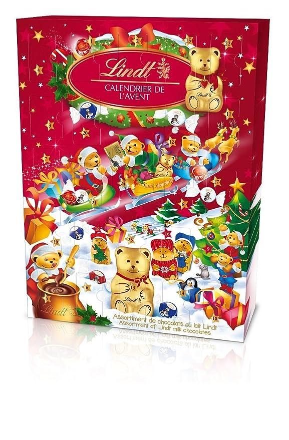 Calendrier D Avent.Lindt Calendrier De L Avent Ours Chocolat Noel 172g