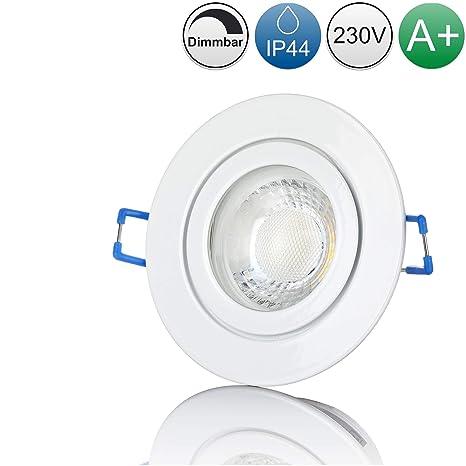 230V 5W GU10 Strahler neutralwei/ß Moderne Deckenstrahler//Einbaustrahler f/ür Au/ßen inkl lambado/® LED Spots f/ür Badezimmer IP65 in Schwarz Hell /& Sparsam