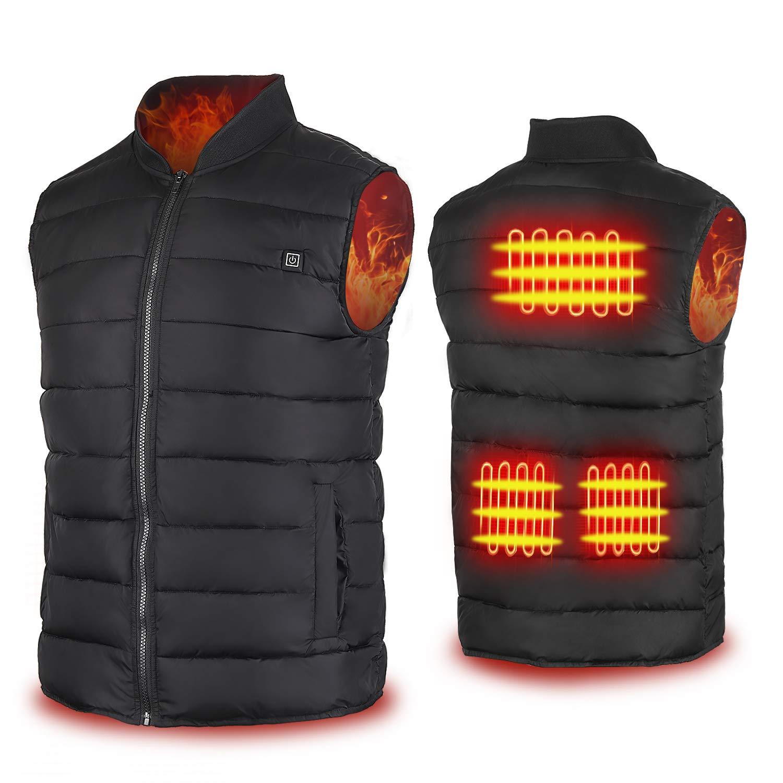 Cenow Heated Vest, Unisex Heating Jacket USB Electric Heating Vest Clothing