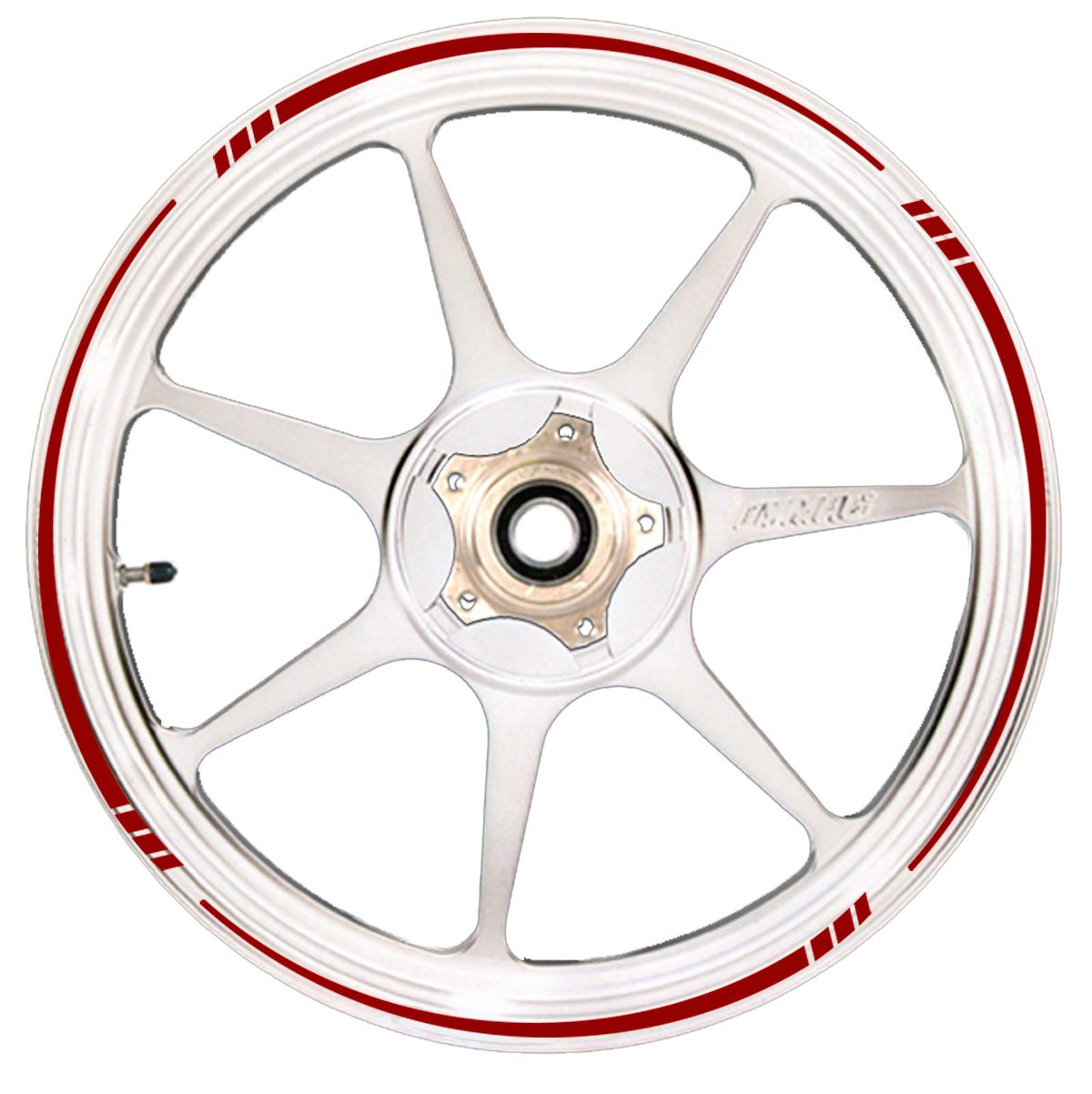 Deep Red Wheel Rim Tape Speed Tapered Stripe Fit All