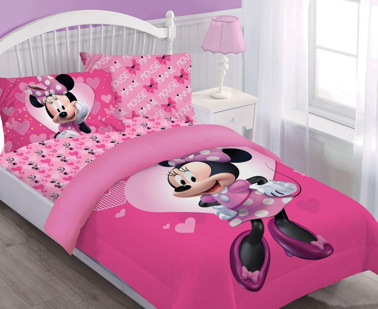 Disney Minnie Happy Helper Twin Comforter Set w/Fitted Sheet