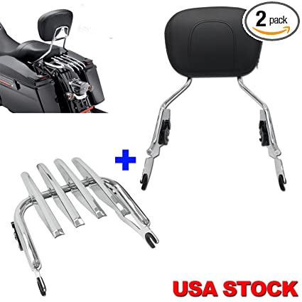 Motorcycle Accessories & Parts Covers & Ornamental Mouldings Good Adjustable Detachable Backrest Sissy Bar Chrome For Harley Touring Models 2009-2017 Consumers First