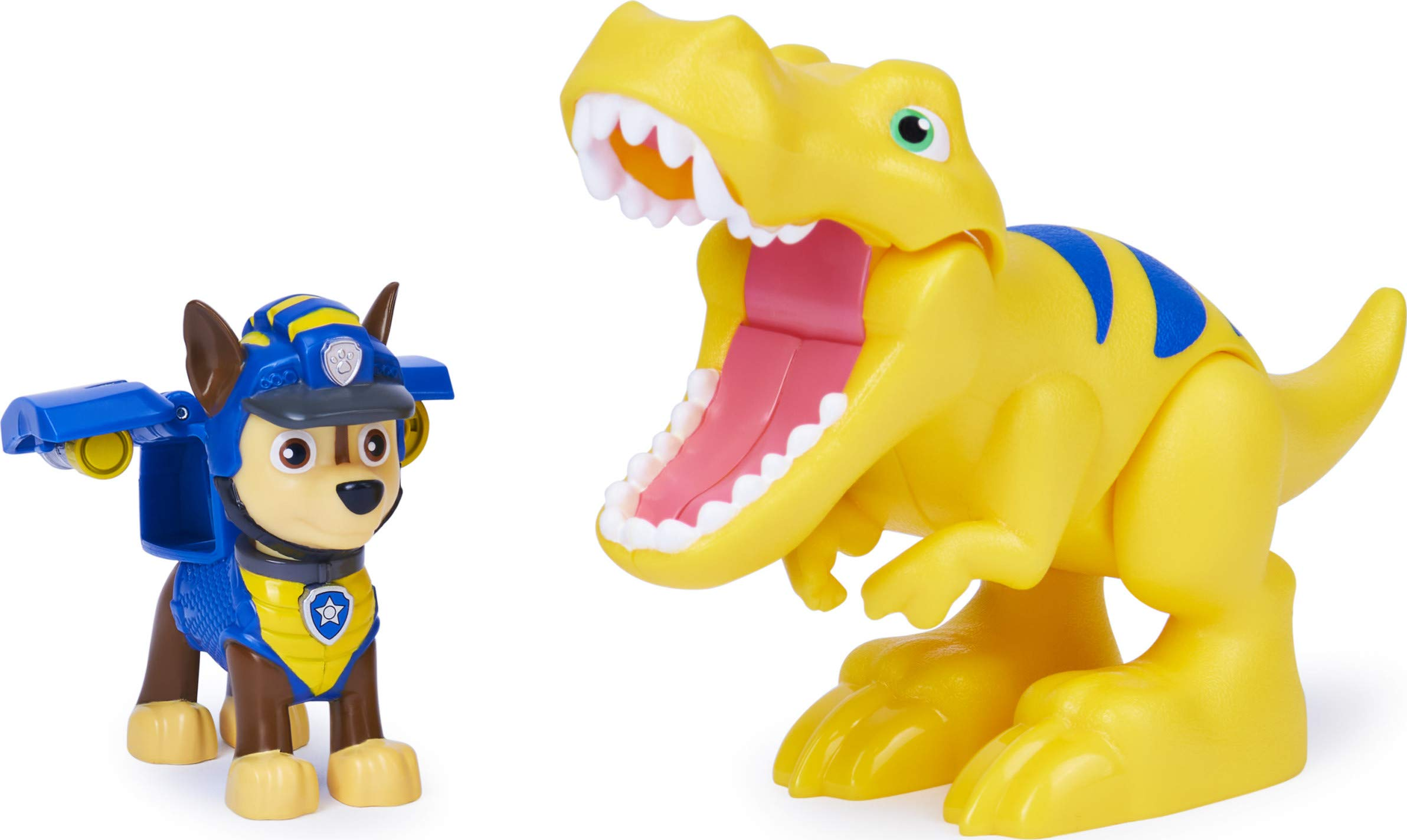 PAW Patrol Dino Rescue Chase and Dinosaur Action Figure Set, for Kids Aged 3 and Up