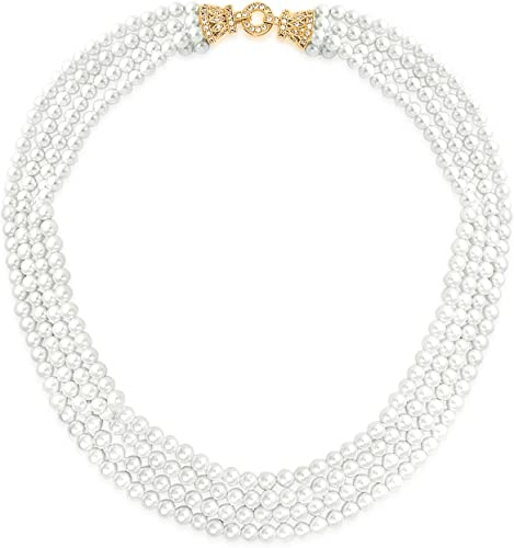 Bling Jewelry Art Deco Stil CZ Braut Multi Collier Halskette