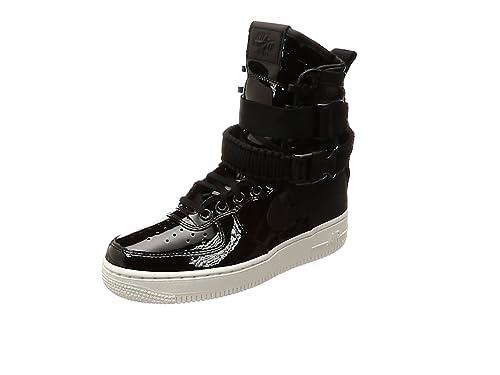 more photos 49e0e 33fc5 Nike SF-AF1 Black Patent Veröffentlicht Damenschuhe in Schwarzem Leder  AJ0963-001