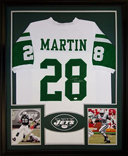 9a1b0c99 Curtis Martin New York Jets Signed Autograph Custom Framed Jersey ...