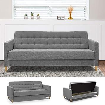 Fanilife Sofabett Skandinavischer Stil 3 Sitzer Sofa Aufbewahrung