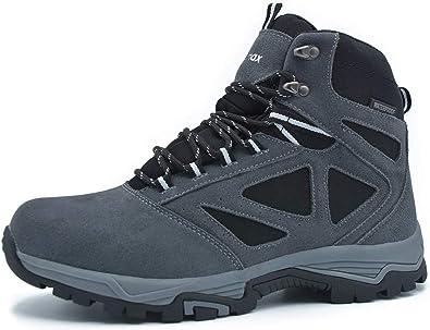 Knixmax - Botas de Montaña para Mujer, Zapatillas de Senderismo Impermeable Antideslizante Zapatos de Deporte Exterior Calzado de Alta Caña Trekking Sneakers (Marrón, Gris, Azul): Amazon.es: Zapatos y complementos