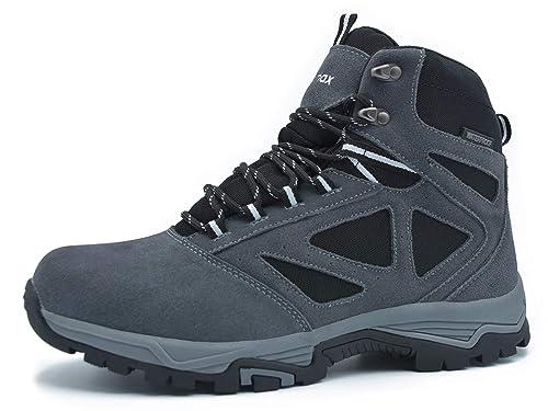 Knixmax-Botas de Montaña para Mujer,Zapatillas de Senderismo Impermeable Antideslizante Zapatos de Trekking Al Aire Libre Zapatos Escalada Sneakers(Marrón, ...