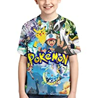 Valvia Kids T-Shirts Anime Crewneck Short Sleeve Tees for Boys Girls