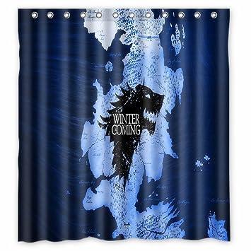 72 X Inch Anime Style Shower Curtain Waterproof Fabric
